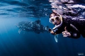 Bethan snorkelling in Australia