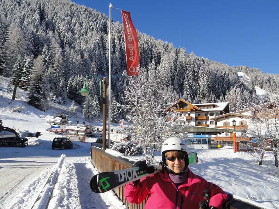 Jackie in the Dolomites